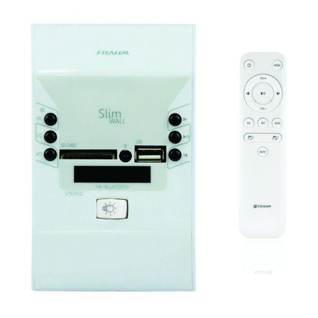Amplificador de Parede Frahm Slim Wall 60 RMS Bluetooth, USB, Aux - Bivolt