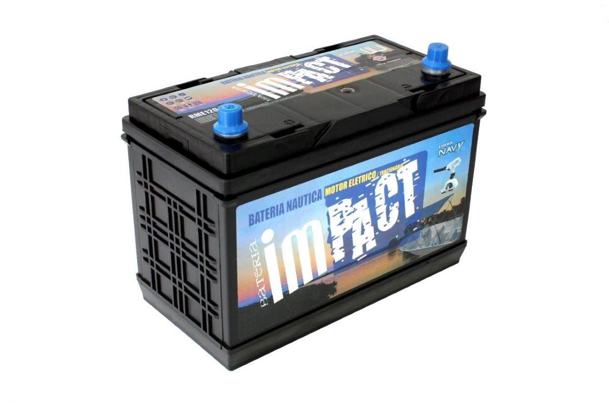 Bateria Impact Náutica Navy RME 120 120 Ah Para Motor Elétrico (Livre De Manutenção)