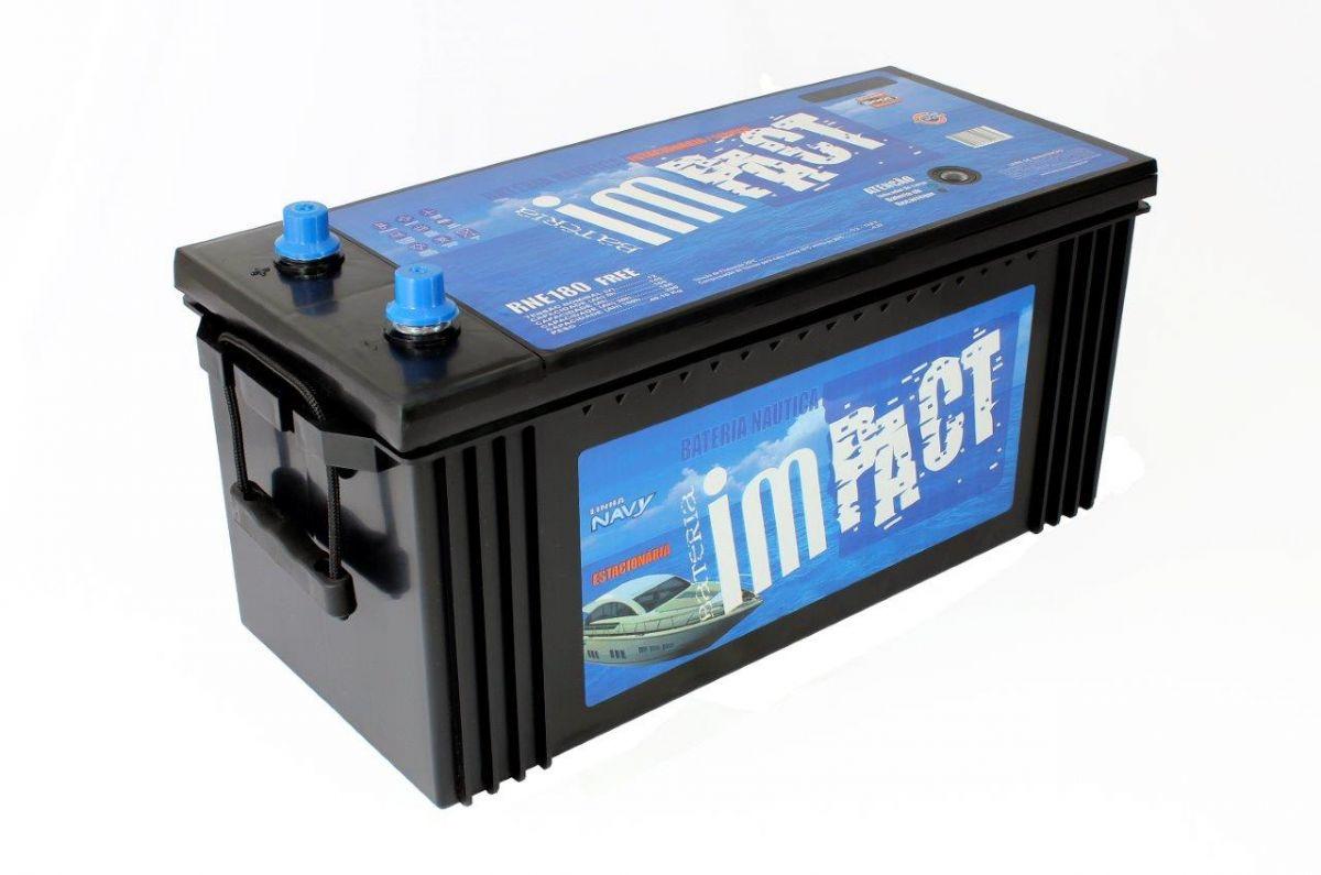 Bateria Impact Náutica Navy RNE 180 180Ah de Serviço/ Estacionária (Livre de Manutenção)
