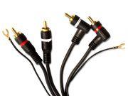 Cabo RCA Series 100 Technoise 3 Metros Com Fio Remote/ Terra e 2 Conectores em L