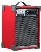 Caixa de Som Amplificada Frahm CA100 50W RMS Usb Sd Card Fm Instrumentos Mic Preta Azul Vermelha