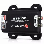 Conversor de Áudio (Fio Para RCA) Com Filtro Anti Ruído Stetsom ST6100