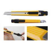 Estilete Profissional Olfa Para Lâmina 9mm - Amarelo