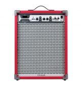 Caixa de Som Amplificada Frahm LC650 App Usb Fm Sd Card Auxiliar Mic Instrumentos - Vermelha, Azul