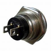 Interruptor N.A. Botão N.A. Universal Push Button Vermelho Bivolt DNI 2191
