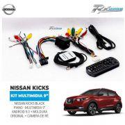 Kit Multimídia Nissan Kicks  9 Android + moldura + câmera Ré