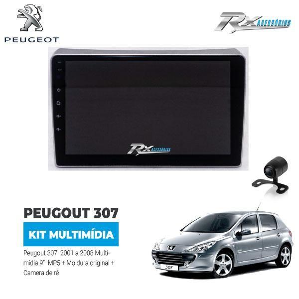 Kit Multimídia Peugeot 307 01/08 9 Pol. Moldura + Câmera Ré