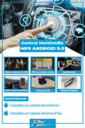Kit Multimídia Peugeot 307 01/08 9 Polegadas Android + moldura + câmera de ré