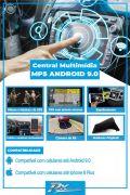 Kit Multimídia Triton/dakar 09/19 9 Pol. Android 9.0 + moldura + camera de ré