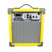 Caixa de Som Multiuso Amplificada Frahm LC250 App Azul, Preta, Vermelha, Pink, Verde, Rosa, Amarela
