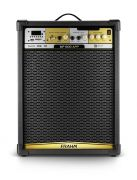 Caixa de Som Amplificada Frahm MF 600 App 150W RMS Bluetooth Usb SD FM