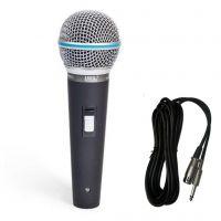 Microfone Com Fio JWL EMS-580 Uso Profissional Com Cabo 5 Metros