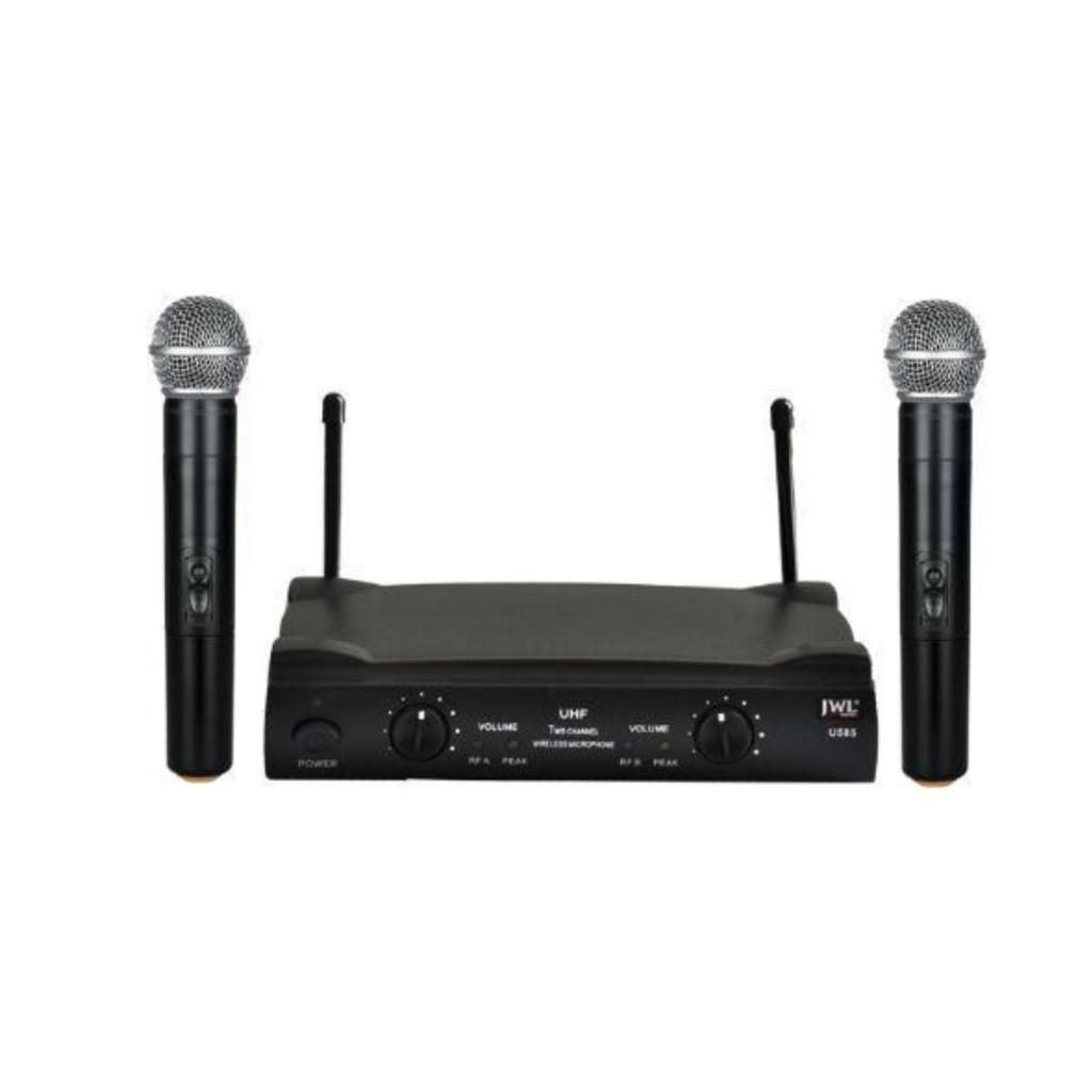 Microfone Duplo Sem Fio UHF JWL U-585 Uso Profissional 02 Bastões
