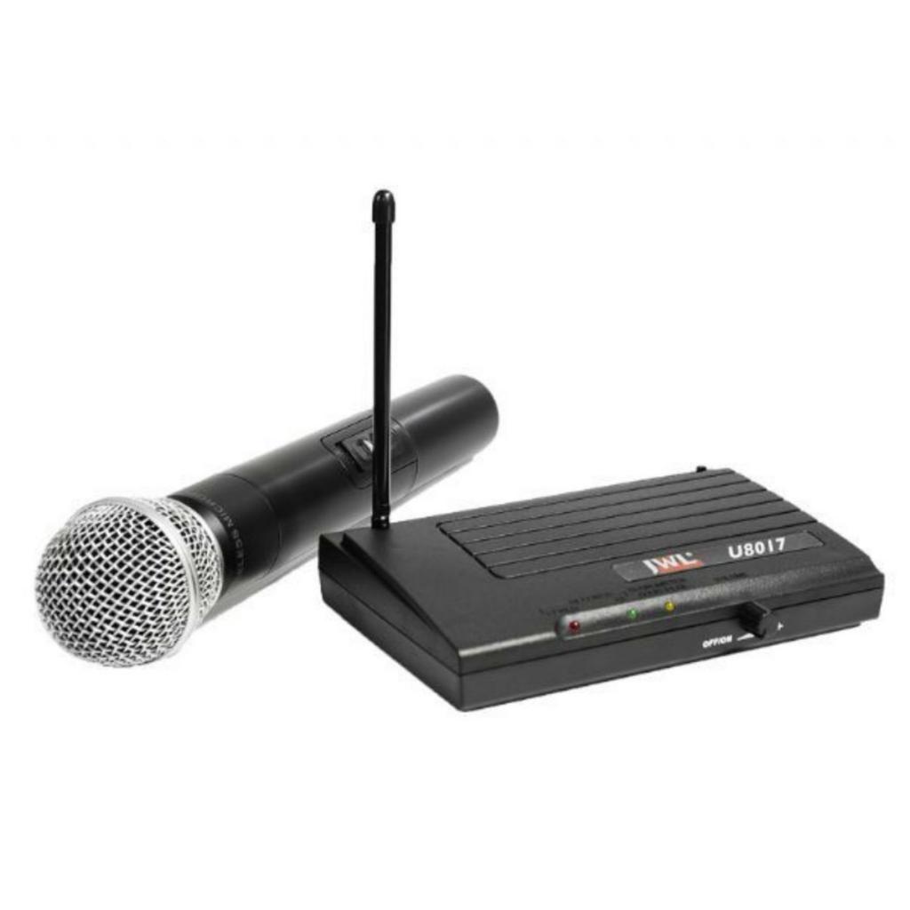 Microfone Sem Fio UHF JWL U-8017 Uso Profissional 01 Bastão