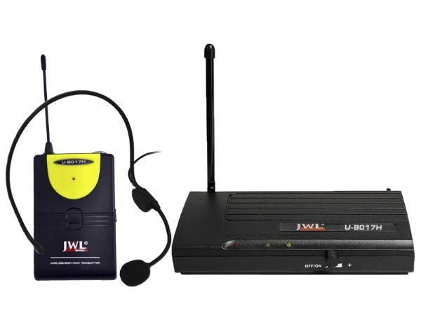 Microfone Sem Fio UHF JWL U-8017H Uso Profissional 01 Headset