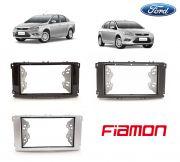 Moldura 2 DIN Ford Focus 2009 a 2013 - Prata ou Preta