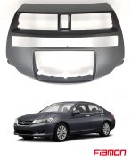 Moldura 2 Din Fiamon Para Honda Accord 2008 Até 2014 - Preta