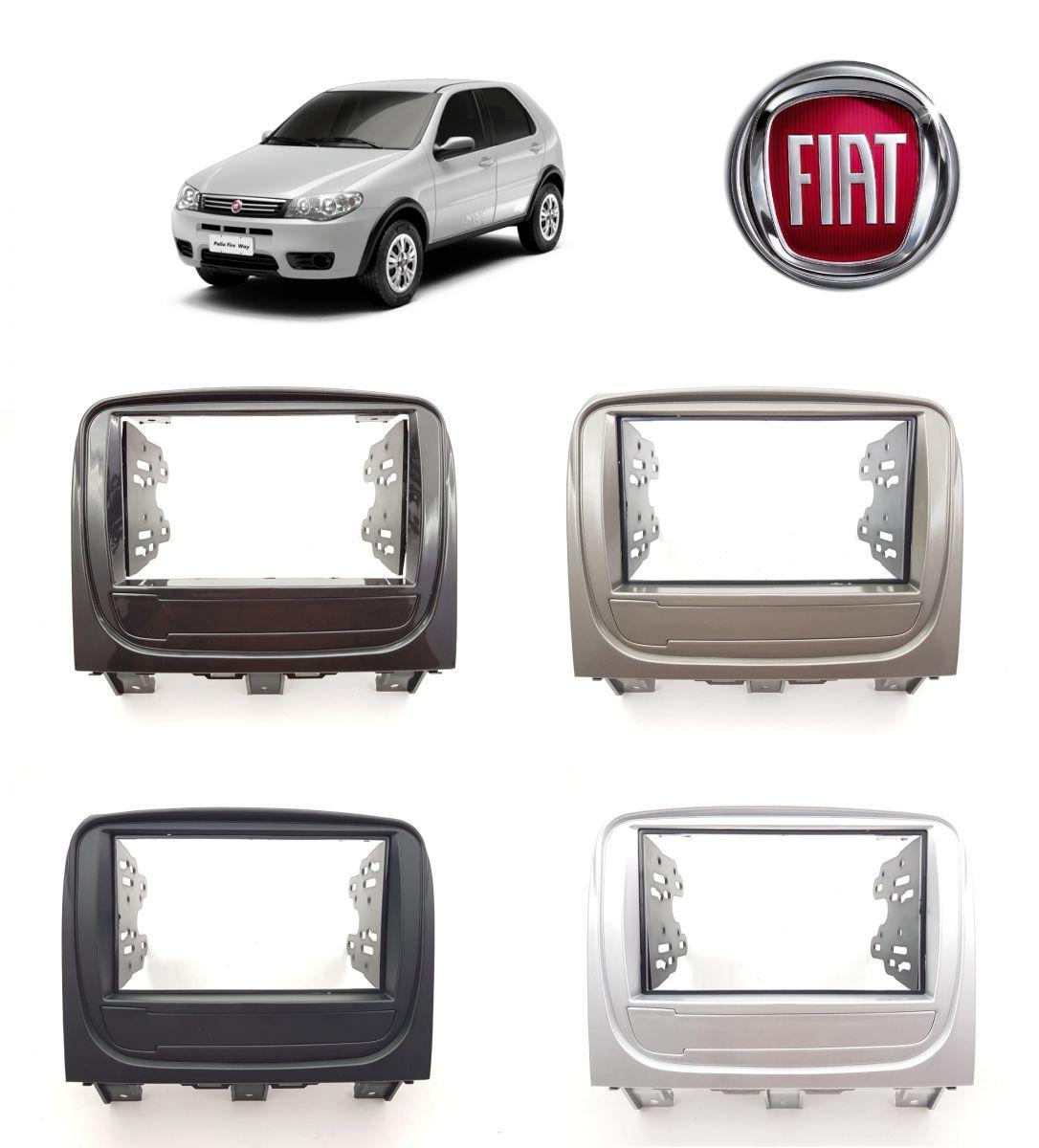Moldura 2 Din Fiat Palio Way 2014 a 2017