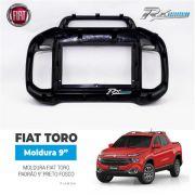 Moldura Fiat Toro Padrão 9 Polegas  Preto Fosco