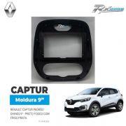 Moldura Renault Captur 9  - Preto Fosco Com Friso Prata