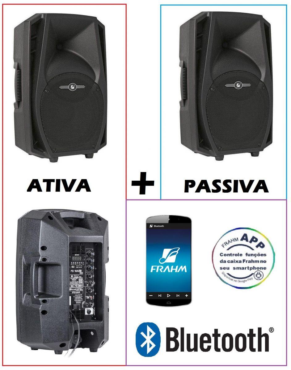 Caixa Frahm Ps 10A BT App 150w Rms + Ps 10 Passiva 150w Rms