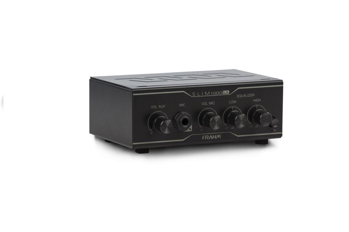 Amplificador Receiver Frahm Slim 1000 LA (Line Amplifier) - Para Até 12 Caixas