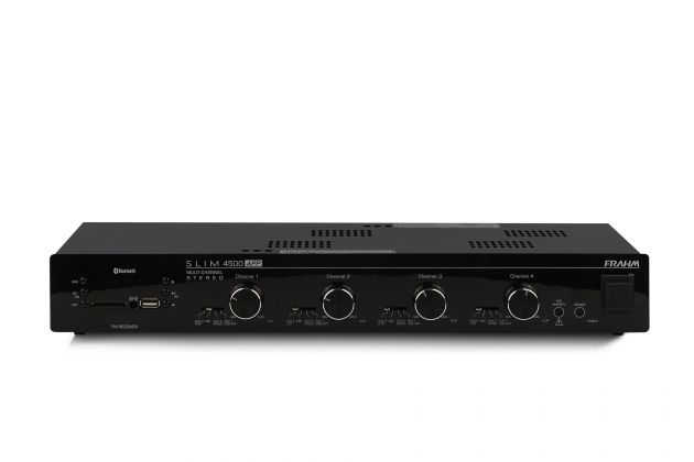 Amplificador Receiver Frahm Slim 4500 APP Multi-Channel 480 Watts RMS (4 x 120 W RMS)