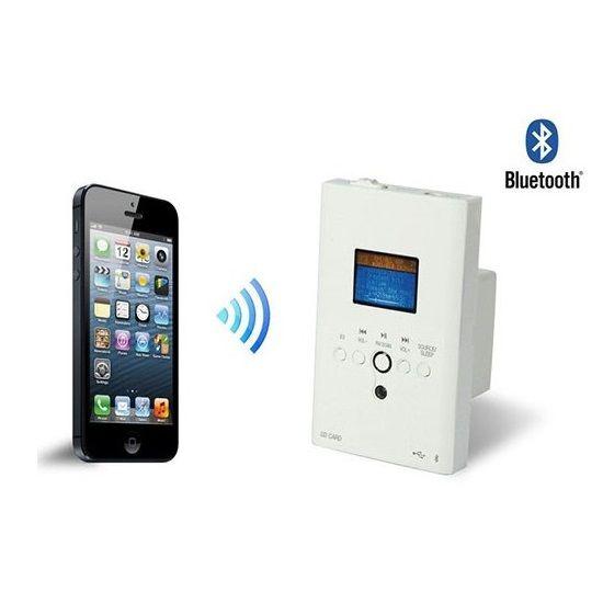 Amplificador de Parede Frahm Slim in Wall - Para Embutir na Parede - Com Bluetooth, FM, USB, SD Card