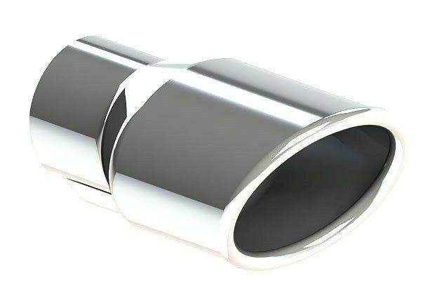 Ponteira de Escapamento Em Aço Inox Tuper 19883 - Oval Virolada