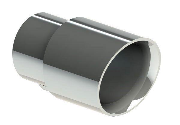 Ponteira de Escapamento Em Aço Inox Tuper 19896 - Redonda Chanfrada
